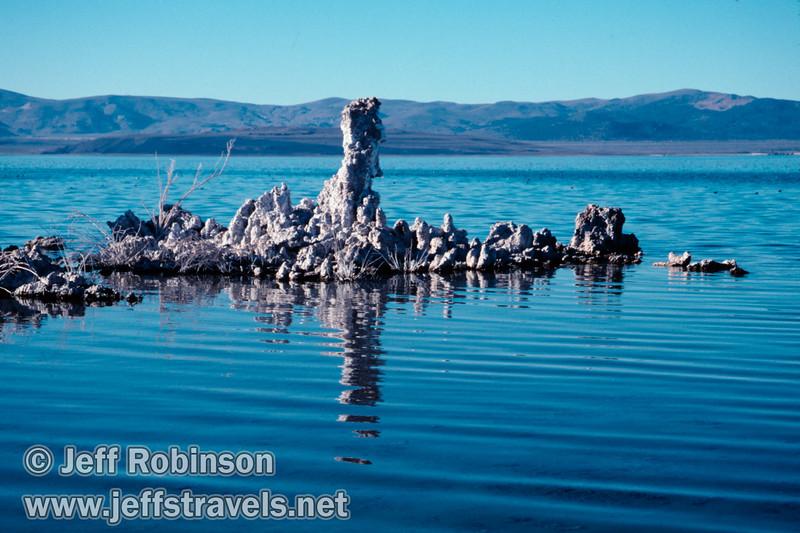 Tufa in the water. (South Tufa, Mono Lake 2002)