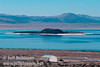 The black Negit Island in Mono Lake with the Lee Vining Airport in the foreground (Mono Lake 2002)