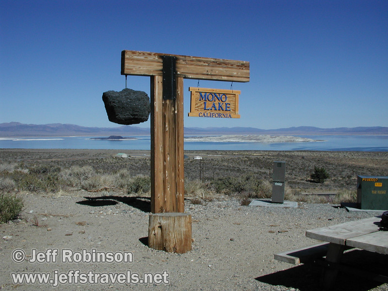 Sign for Mono Lake, CA. Seen from vista point near Lee Vining  (Mono Lake 2002)