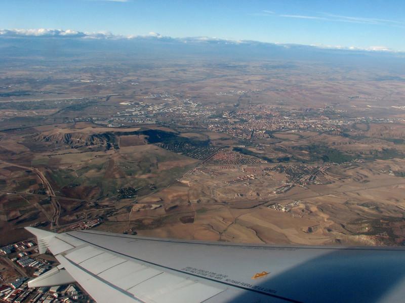 view on Madrid, flight: Madrid-Dusseldorf