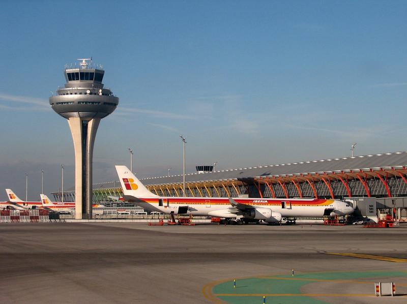 airport Madrid,  (North Morocco 2009)