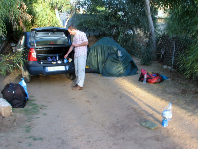 campground near Grottes d'Hercule (North Morocco 2009)
