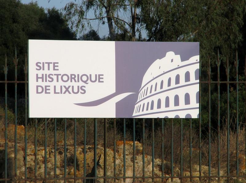 sign of the Historic site De Lixus, North of Larache (North Morocco 2009)