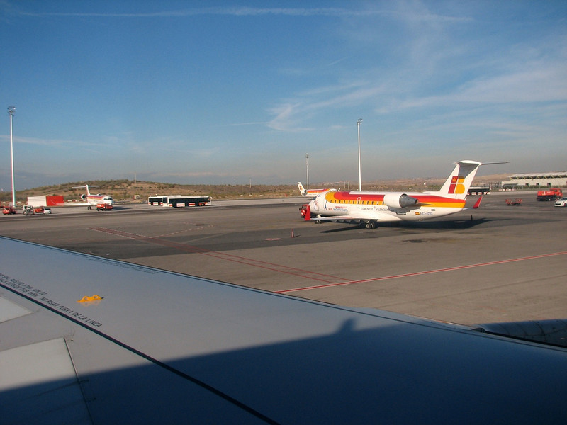 airport Madrid, flight: Tanger, Boukhalef Souahel-Madrid-Dusseldorf (North Morocco 2009)