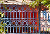 Blue iron fence-1070707