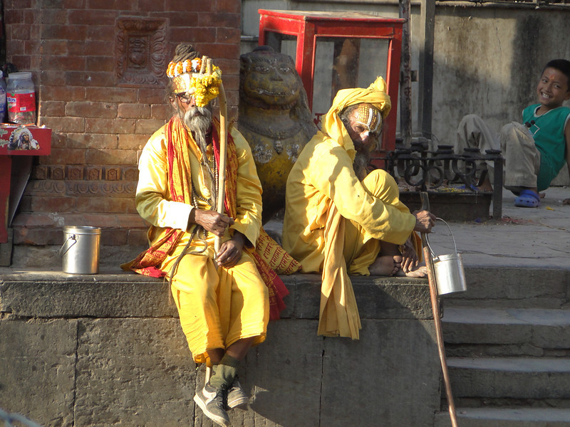 Hindu sadhus, Durbar Square, Kathmandu 1300m