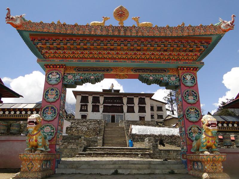 Entrance gate of Monastery of Tengboche 3850m