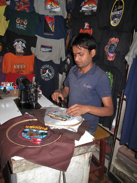 Embroidery, Thamel, Kathmandu 1300m