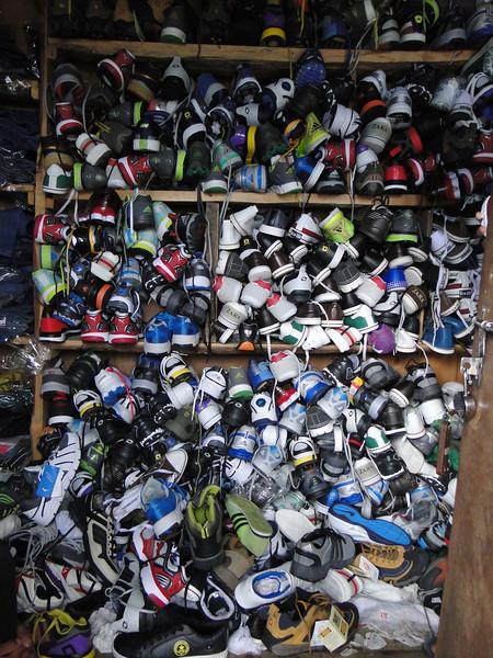 Shoe-shop, Namche Bazar 3450m