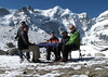 Breakfast, resting/acclimatisation day, Camp Kare 4950m with Mera Peak 6476m edit