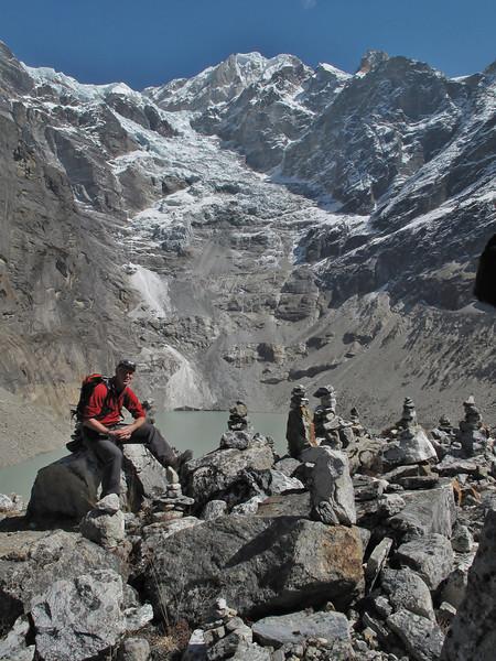 Sabal Tsho lake 4453m. Tangnag 4300m-Kare 4950m