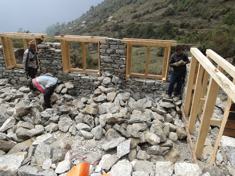 Construction works, Lukla 2800m