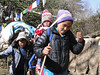 Traveling family, Pangkom 2850m-Najing 2600m