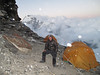 Mingmar Sherpa take care, Mera Peak advanced camp 5800m