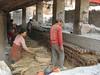 Loading the oven, Pottery Square, Baktapur