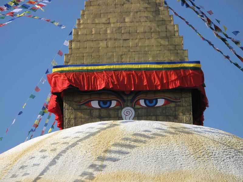 Buddhistical Stupa Bodhnath, Kathmandu 1300m