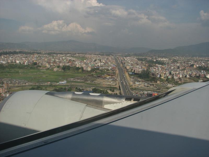 Kathmandu, Nepal, flight: Amsterdam-Frankfurt-Doha-Kathmandu