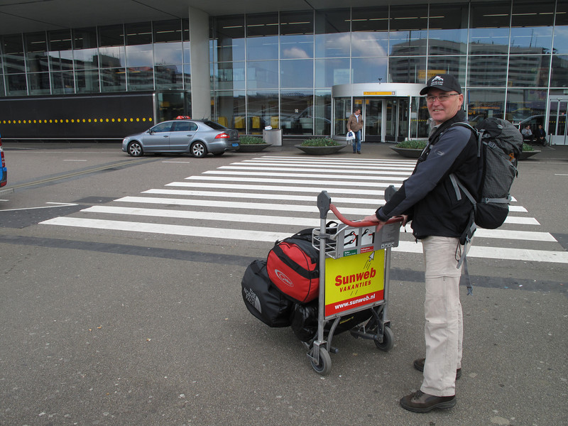 Departure, Schiphol with Frank Andriesse, Paul Klok and Rogier Wassenberg