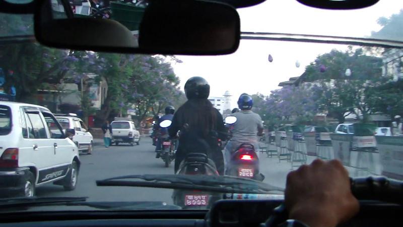 Film: Trafic chaos in Kathmandu