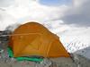 Storm protected tent, Mera Peak advanced camp 5800m