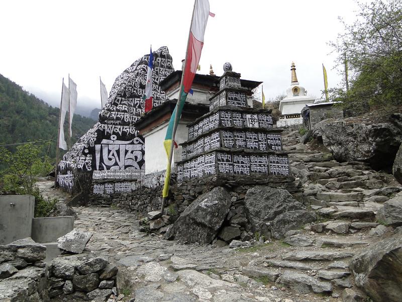 Stupa and prayer stones near Deboche 3630m