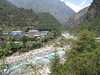 Suspension bridge across the Dudh Kosi, river, Lukla 2800m-Monjo 2900m