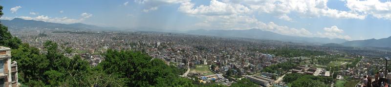 View from Swayambhunath temple, Monkey Temple, Kathmandu 1300m