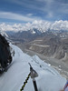 10.54h View at the arete from the summit of Island Peak 6160m