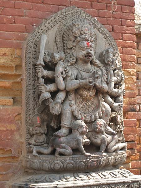 Image of Bhairab, 17th Century, Baktapur Palace Area