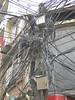 Electricity wire chaos, Thamel, Kathmandu 1300m