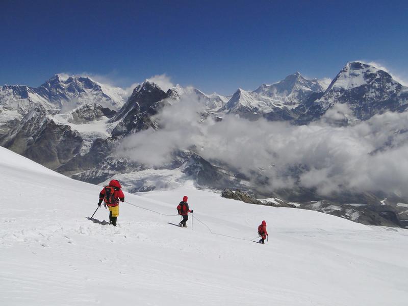 Descending of the Mera Peak