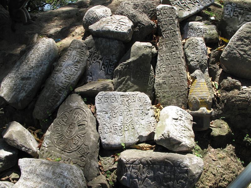 Prayer stones, Swayambhunath temple, Monkey Temple, Kathmandu 1300m