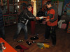 The Winners receive from Mingmar, Expedition Farewell Party, Lukla 2800m