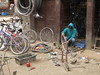 Cycle workshop, Thamel, Kathmandu 1300m