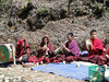 Buddhist monks, cremation ceremony, Lukla 2800m-Monjo 2900m