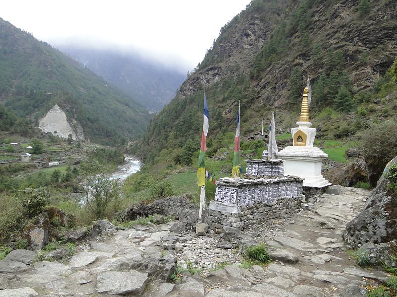 Stupa and prayer stones near Tengboche
