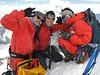 10.50h Ang, Marijn and Mingmar on the summit of Island Peak (Imja Tse) 6189m
