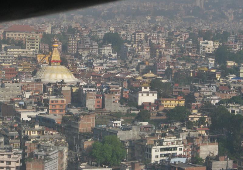 Buddhistical Stupa Bodhnath, Twin Otter, Kathmandu