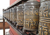 Prayer wheels, Swayambhunath temple, Monkey Temple, Kathmandu 1300m