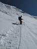 9.00h Start ice wall 300m to summit. Ascending Imja Tse, Island Peak 6160m