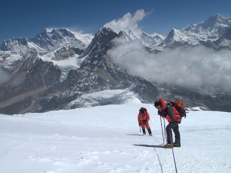 Not many oxygen in the air, Descending of Mera Peak