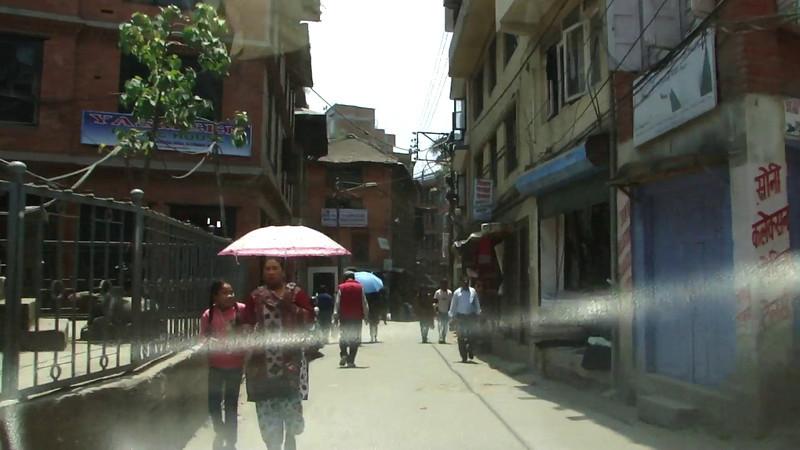 Film: Taxi drive in Kathmandu