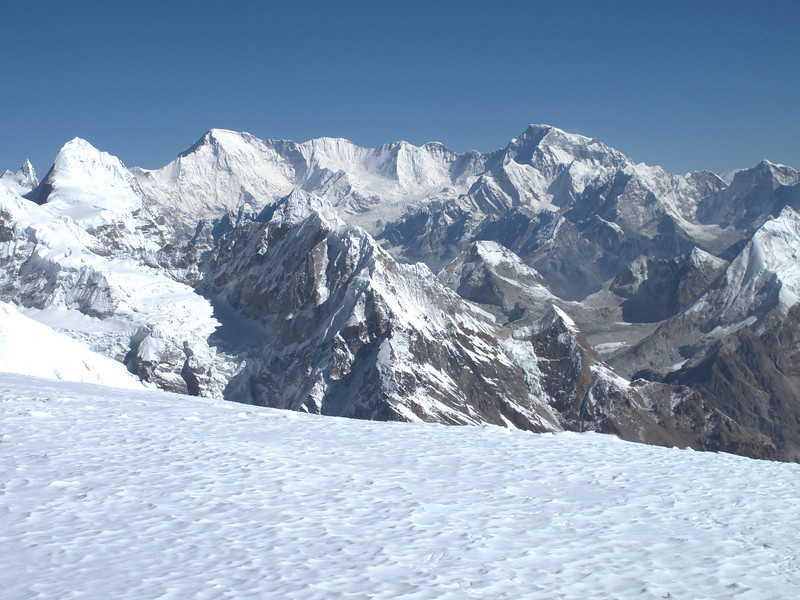 View from Mera Peak, summit 6476m