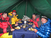 Diner at Mera Peak base camp (Mera La) 5350m
