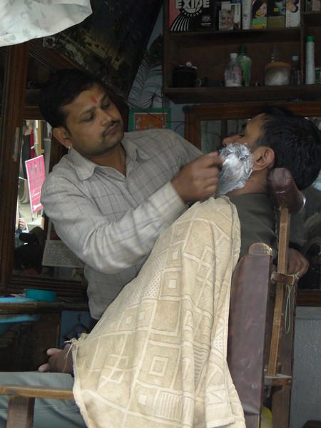 Barber shop, Thamel, Kathmandu 1300m