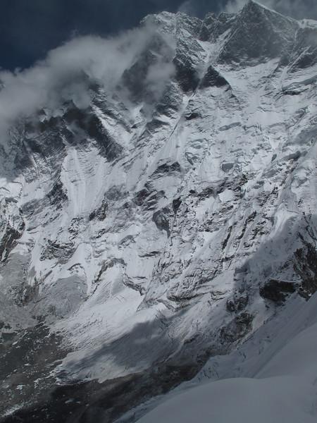 View at the Lhotse South Face, summit Island Peak 6160m