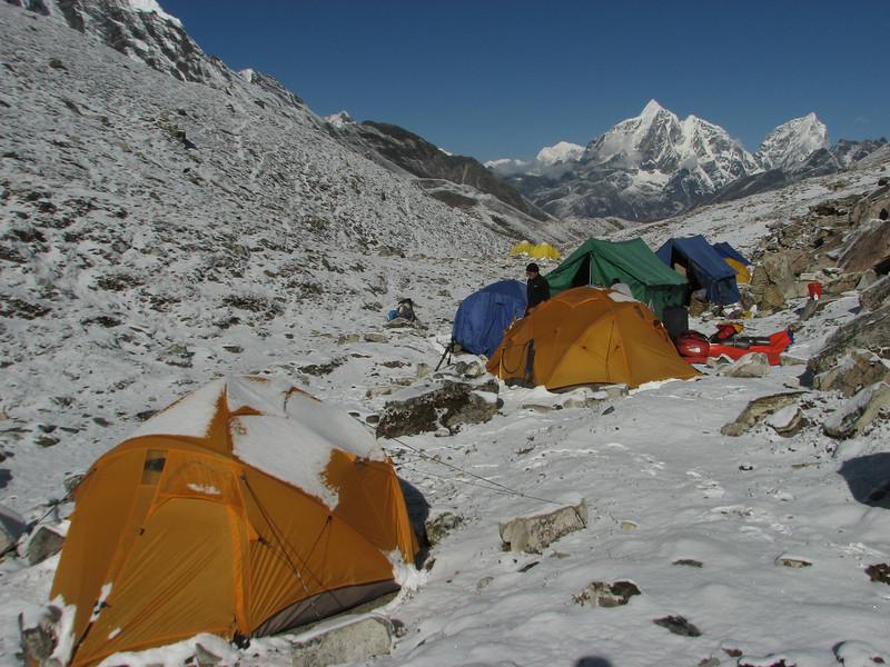 Paul is O.K. Island Peak Base Camp 5000m