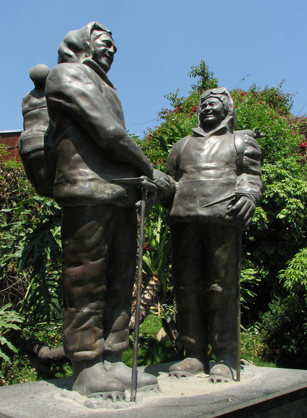 Stature of Tenzing and Hillary, Permit Police Office, Kathmandu 1300m