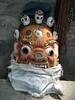 Buddhistical mask, Stupa Bodhnath, Kathmandu 1300m