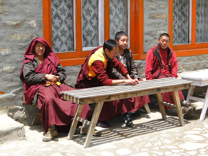 Monks of the Monastery of Tengboche 3850m
